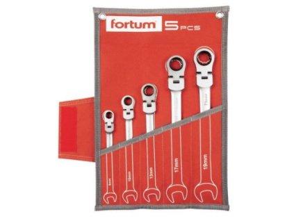 Sada ráčnových očkoplochých klíčů Fortum 5 ks