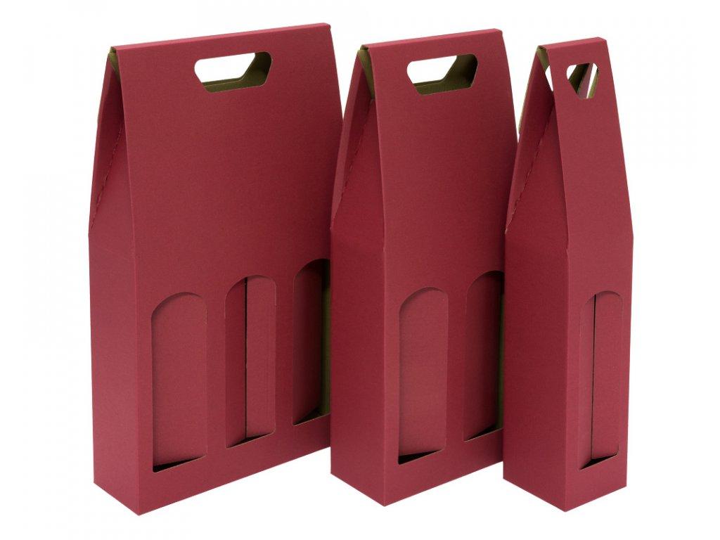 krabice 1 2 3 bordo