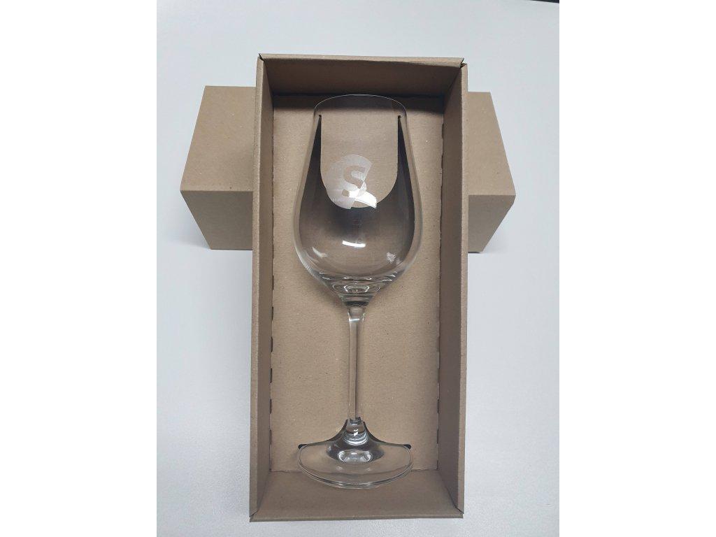 Set dárková krabička se skleničkou S03 350 ml s potiskem