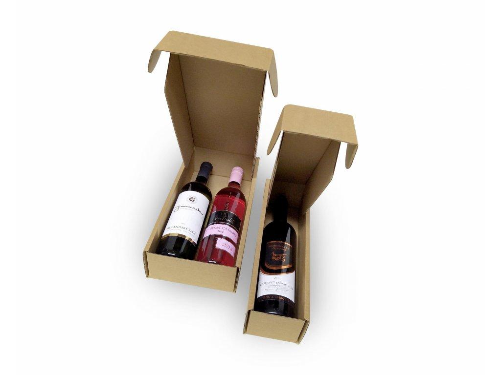 krabice prirodni pap 1a2 lahve otevrene