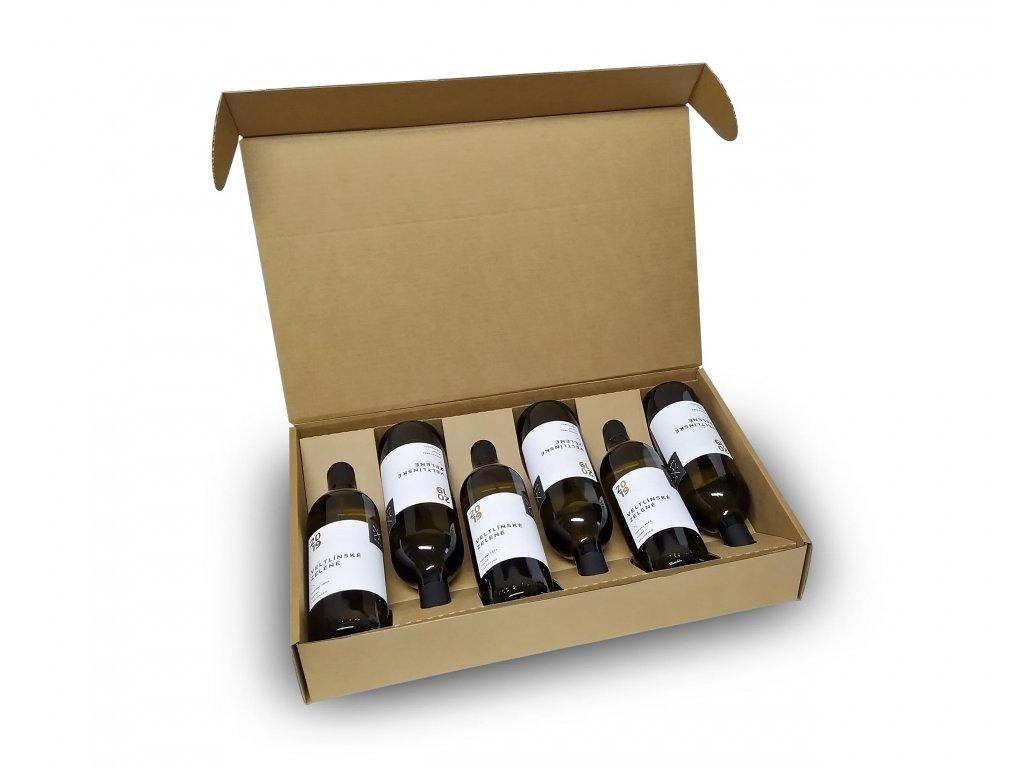 krabice prirodni pap 6 lahvi otevrena
