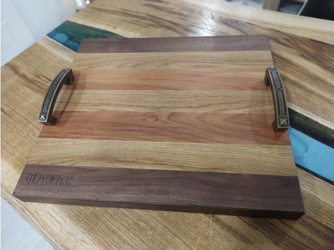 krájecí prkénko z ořechového dubového a trnkové dřeva