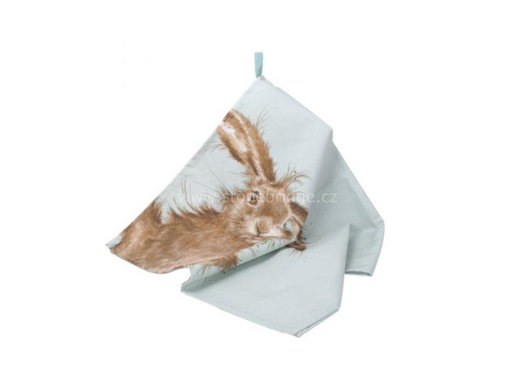 Hare teatowel