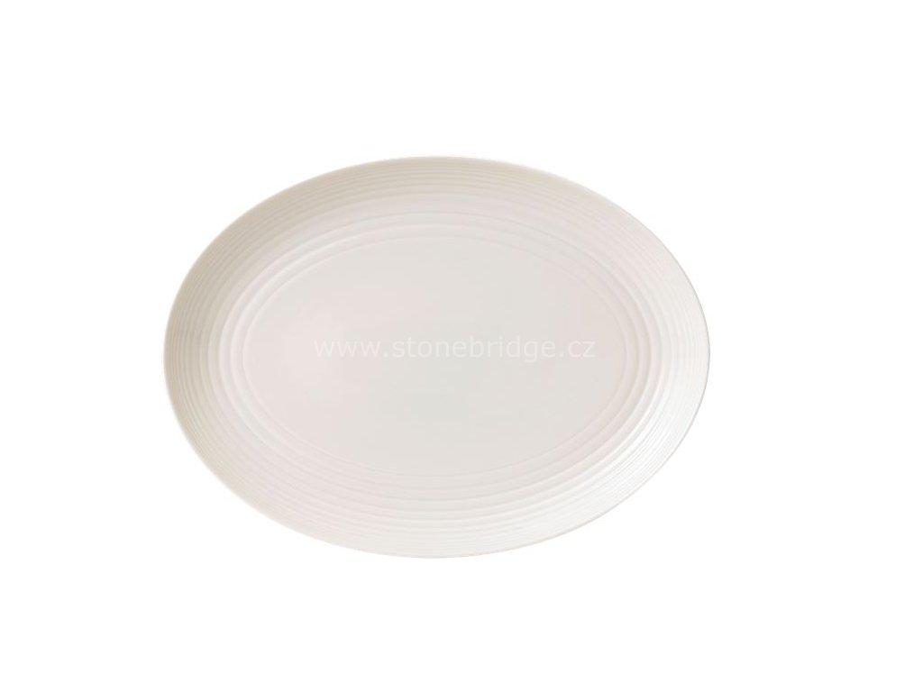 maze white ovalny talir