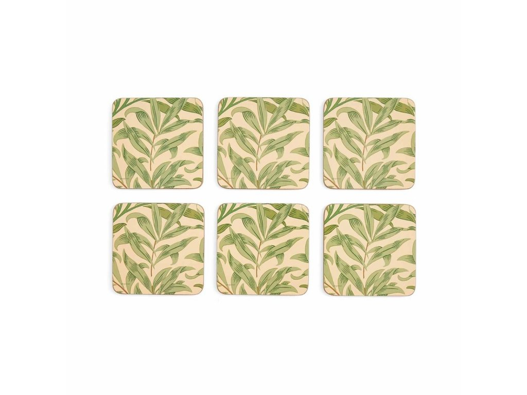 morris co willow bough green coasters s 6 3