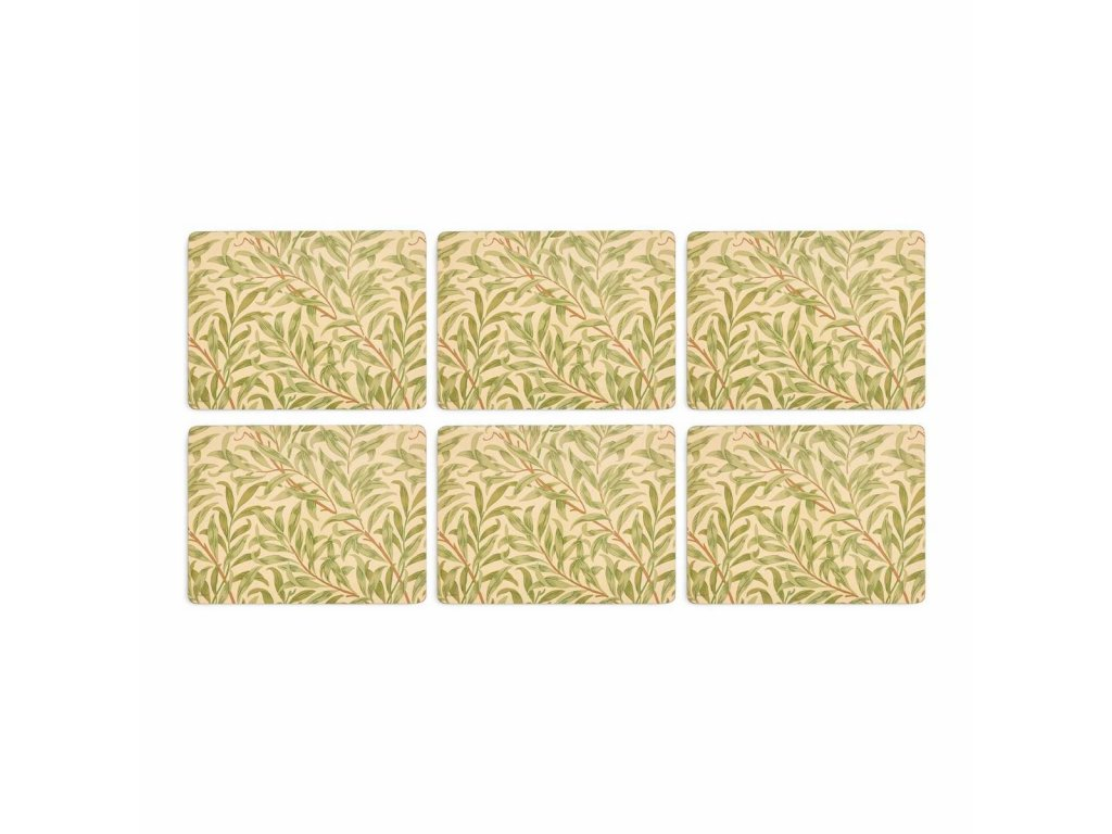 morris co willow bough green placemats s 6