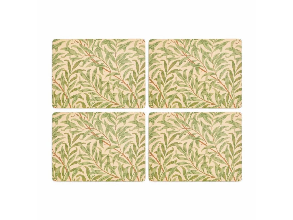 morris co willow bough green placemats s 4 7