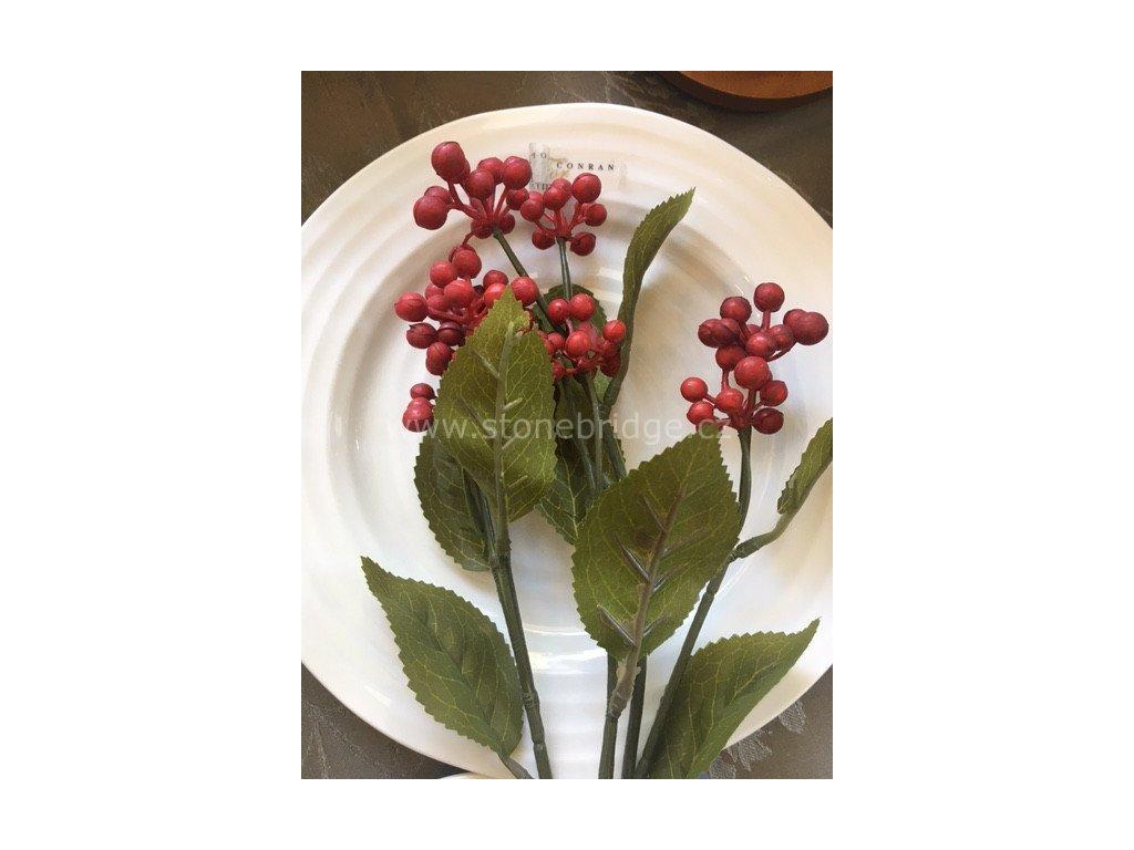 Innovative Wild Berry Spray Red 53cm, větvička květinová dekorace