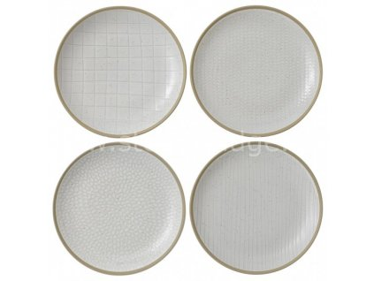 royal doulton maze grill white plate set 701587401654