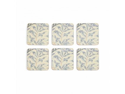 morris co willow bough blue coasters s 6 1