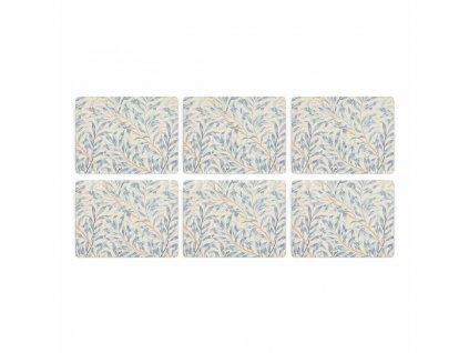 morris co willow bough blue placemats s 6 3