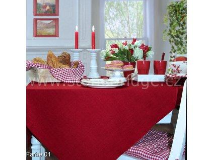 Tischdecke rot 01