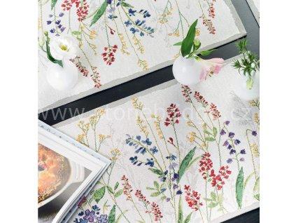 Sander Flower Meadow středový pás malý, rozměr 32x96cm
