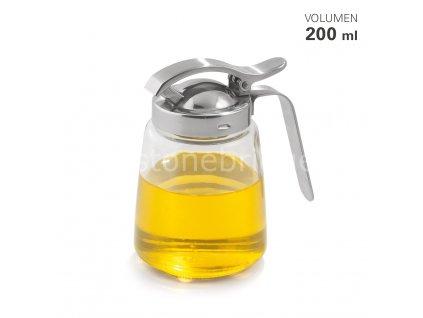 15054 01 HonigMilchspender Glas Edelstahl 200 ml Karl Weis