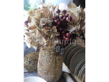 Innovative Hortenzie 73cm, barva béžová, květinová dekorace