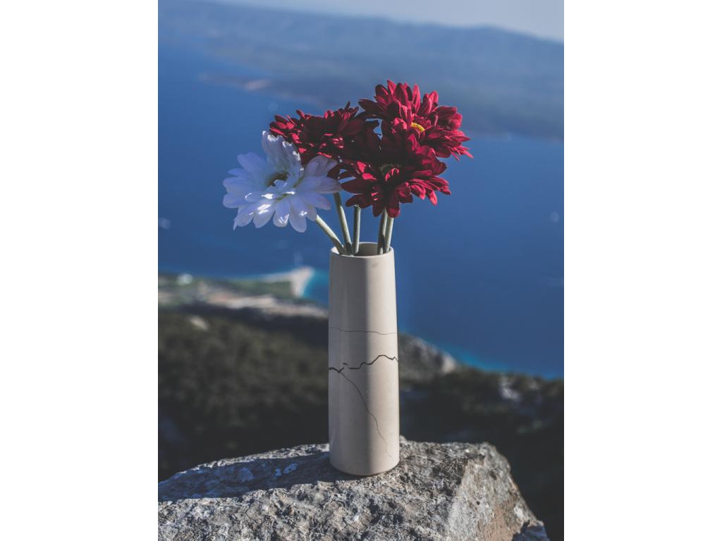Váza Flora kulatá – mramor Zečevo