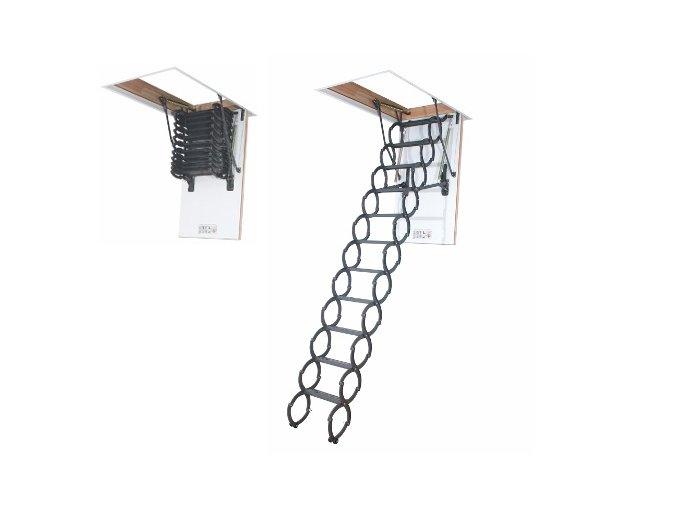 Podkrovné nožnicové schody LST termoizolačné