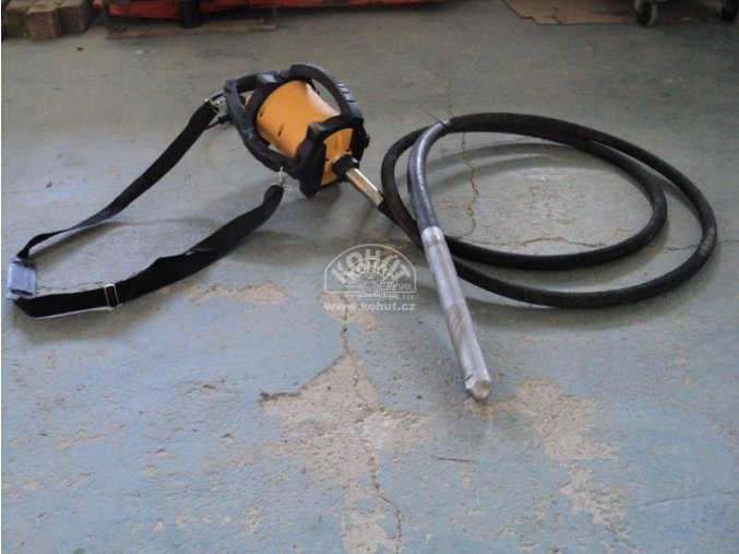 Ponorný vibrátor ENAR Dingo vč. vibrační hřídele - použitý  (DOPRAVA ZDARMA)