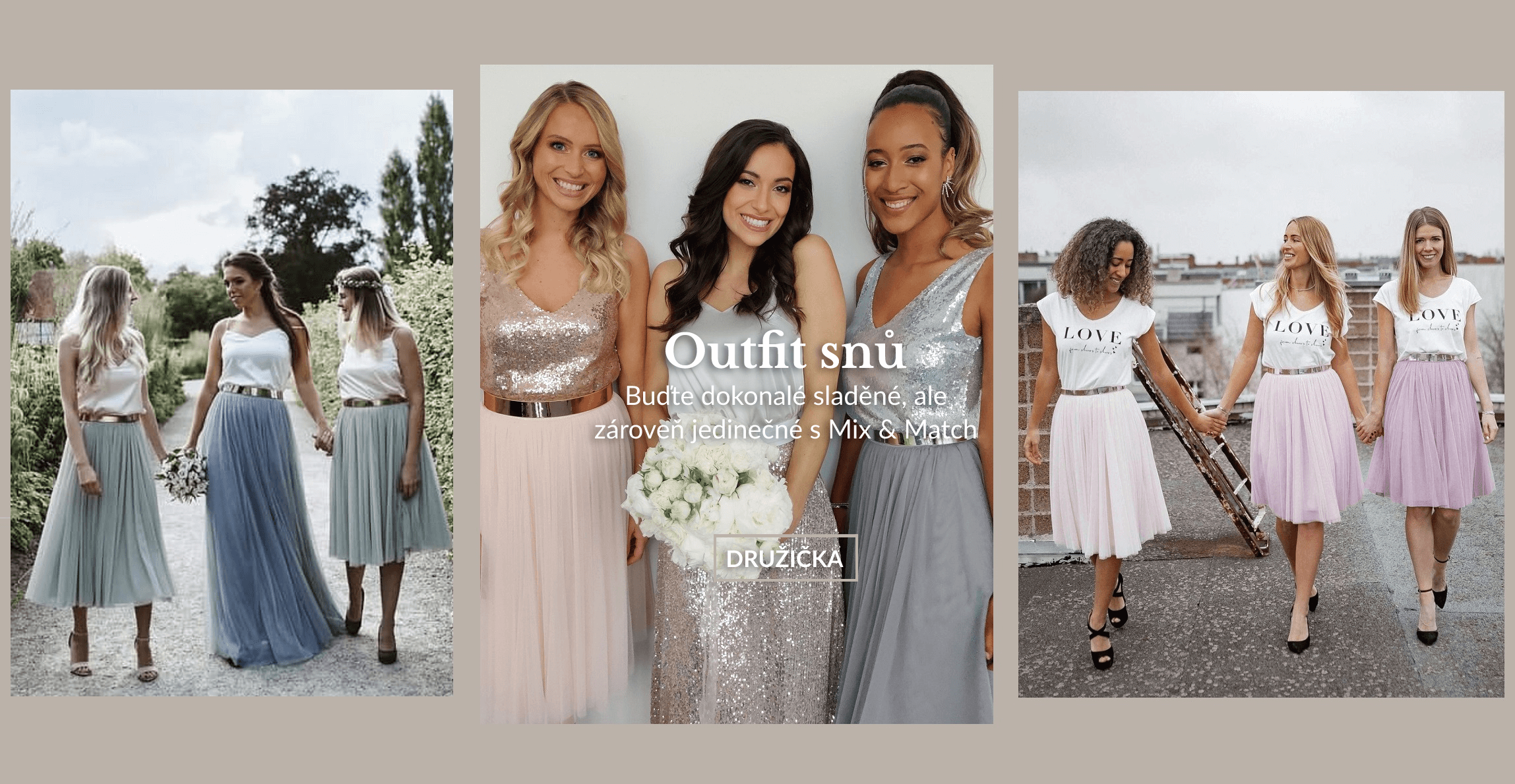 Družičky pastelové sukně