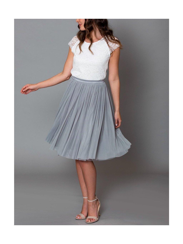 andcompliments svatebni saty pro druzbu seda druzicku tylova sukne tyl nevesta svatba online shoppen sediva 2