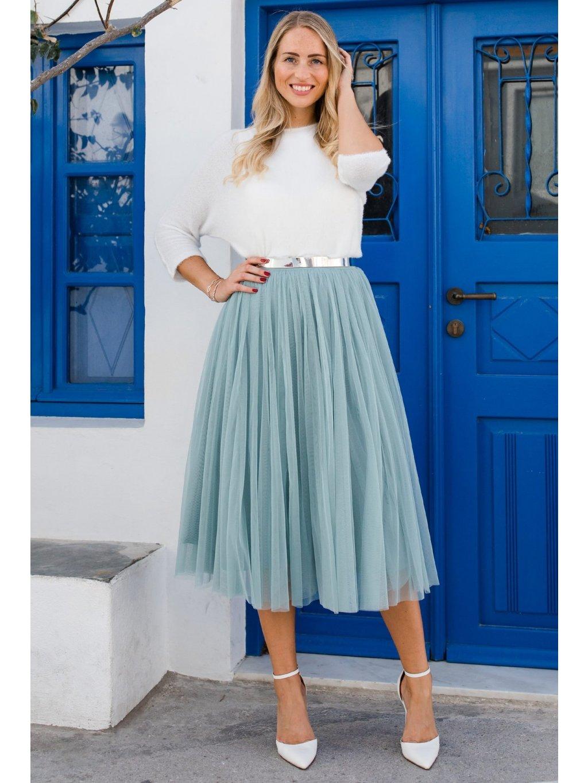 andcompliments online shop moda skirt tylova sukne pro nevestu tyl nevesta svatba svatebni sukne matova saty pro druzicku dusty mint staroruzova midi 1 1800x1800