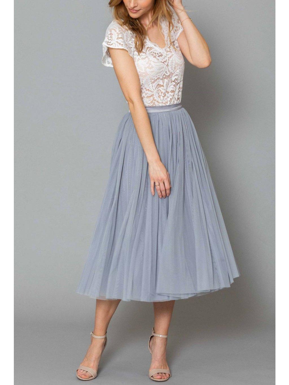 andcompliments online shop moda skirt tylova sukne pro nevestu tyl nevesta svatba svatebni sukne seda saty pro druzicku sediva staroruzova midi 6 1800x1800