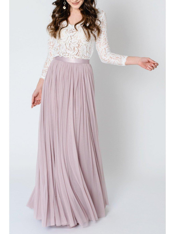 andcompliments online shop moda skirt tylova sukne pro nevestu tyl nevesta svatba svatebni sukne ruzova saty pro druzicku pastelova svetle staroruzova dlouha 4 1800x1800