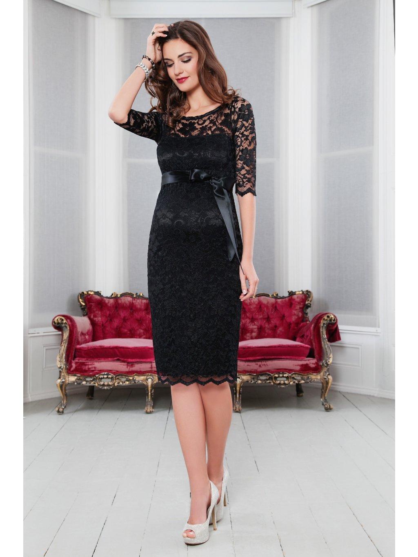 AMLBK L3 Amelia Lace Maternity Dress Short (Black) 60115