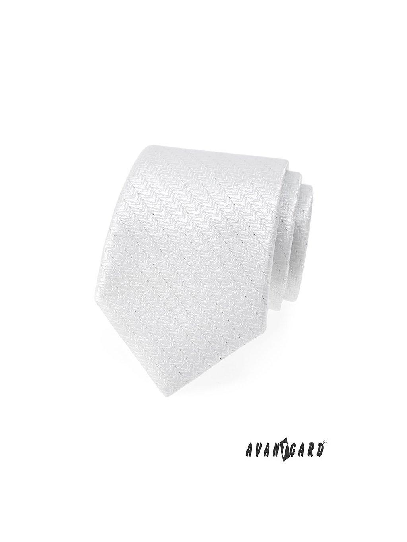 Kravata AVANTGARD LUX svatební bílá 561-9320-0