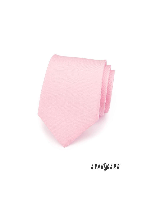 Kravata AVANTGARD růžová matná 559-7609-0