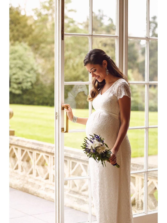 Těhotenské svatební šaty dlouhé VANESA