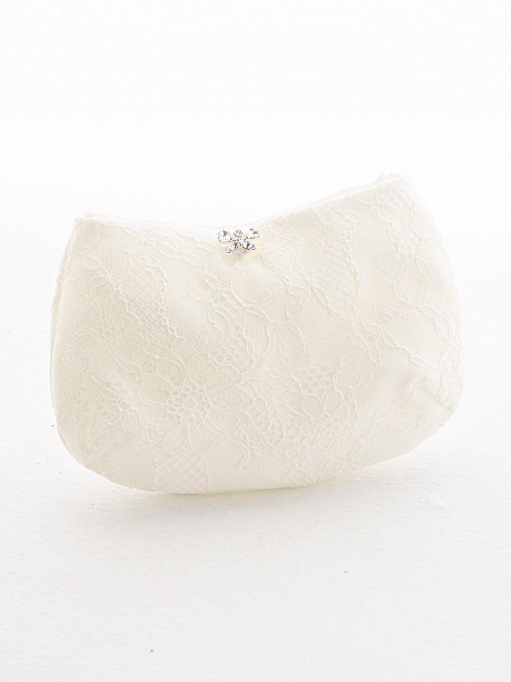 studioagnes Bianco Evento bridal handbag svatebni kabelka psanicko krajkove s krajkou pro nevestu T14