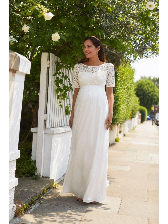 Těhotenské svatební šaty dlouhé ALASKA