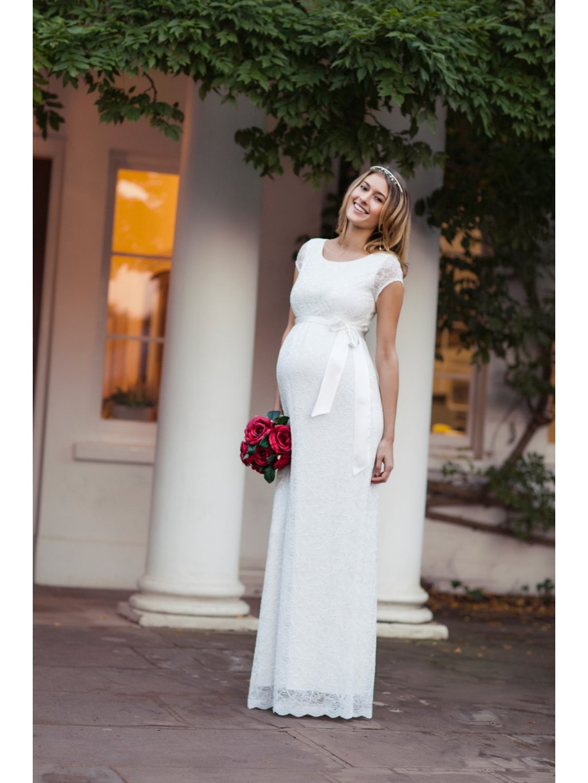 tehotenske svatebni saty EMGIL L2 Emma Dress Long (Ivory)