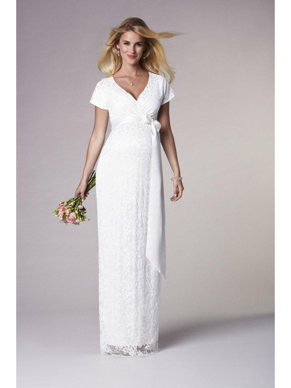 Těhotenské svatební šaty dlouhé BRIDGET