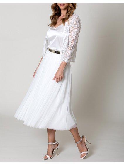 CONSTANT LOVE tylová sukně svatební midi smetanová
