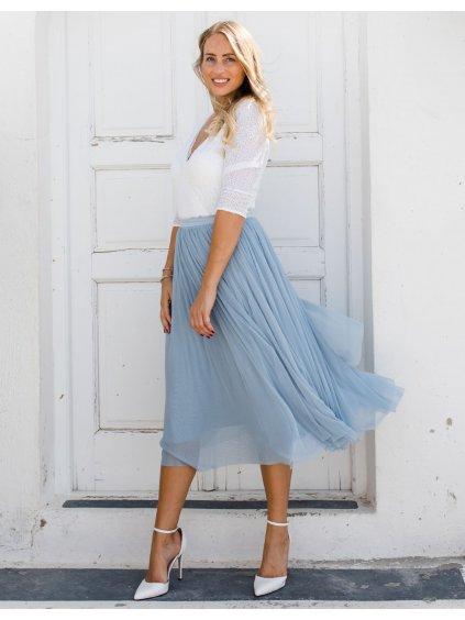svatebni moda nevesta svatba body flitrove tylova sukne smetanový 4