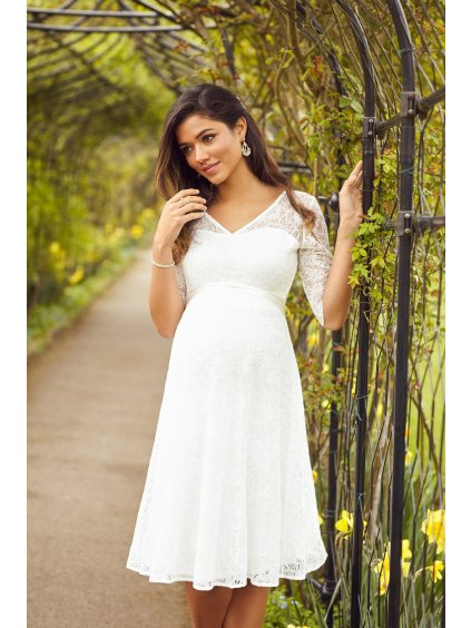 FLODI L4 Flossie Dress Short Ivory
