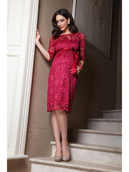 tehotenske saty cervene spolecenske na svatbu AMLBR L4 Amelia dress bright rose