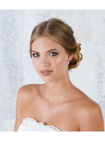 strasove nausnice s perlou na svatbu EG0946 2