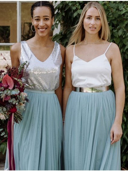 andcompliments online shop moda skirt tylova sukne pro nevestu tyl nevesta svatba svatebni sukne matova saty pro druzicku dusty mint staroruzova midi 2 1800x1800