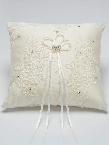 Studioagnes polstarek na prstynky Bianco Evento bridal pillow K2 (1)