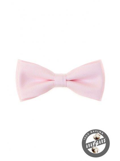 Motýlek PREMIUM svatební růžový 600-5189-0