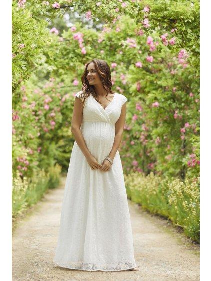 Těhotenské svatební šaty dlouhé NICOLA