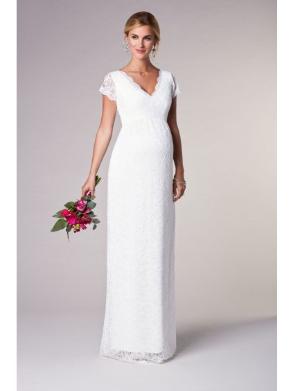 LLGIL S1 Laura Lace Gown Long Ivory