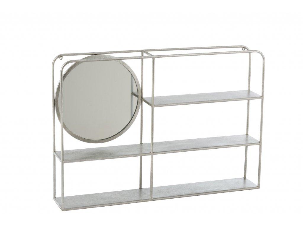 Nástěnné zrcadlo se 3 poličkami