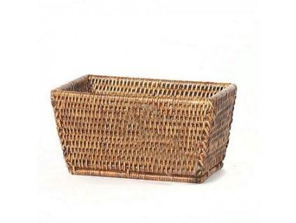Obdelníkový ratanový košík na pečivo