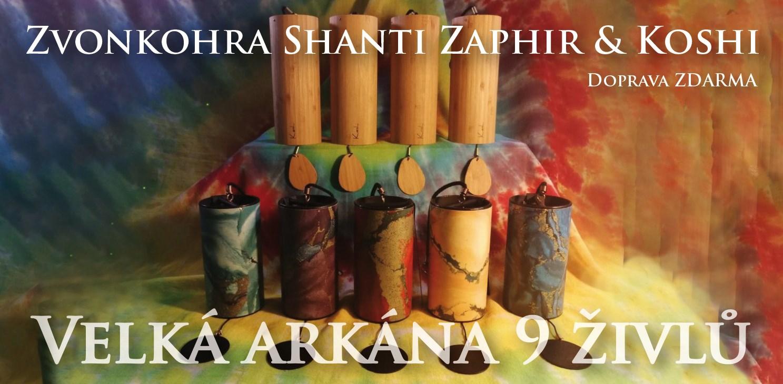 Zvonkohry KOSHI a SHANTI ZAPHIR - sada 9 zvonků