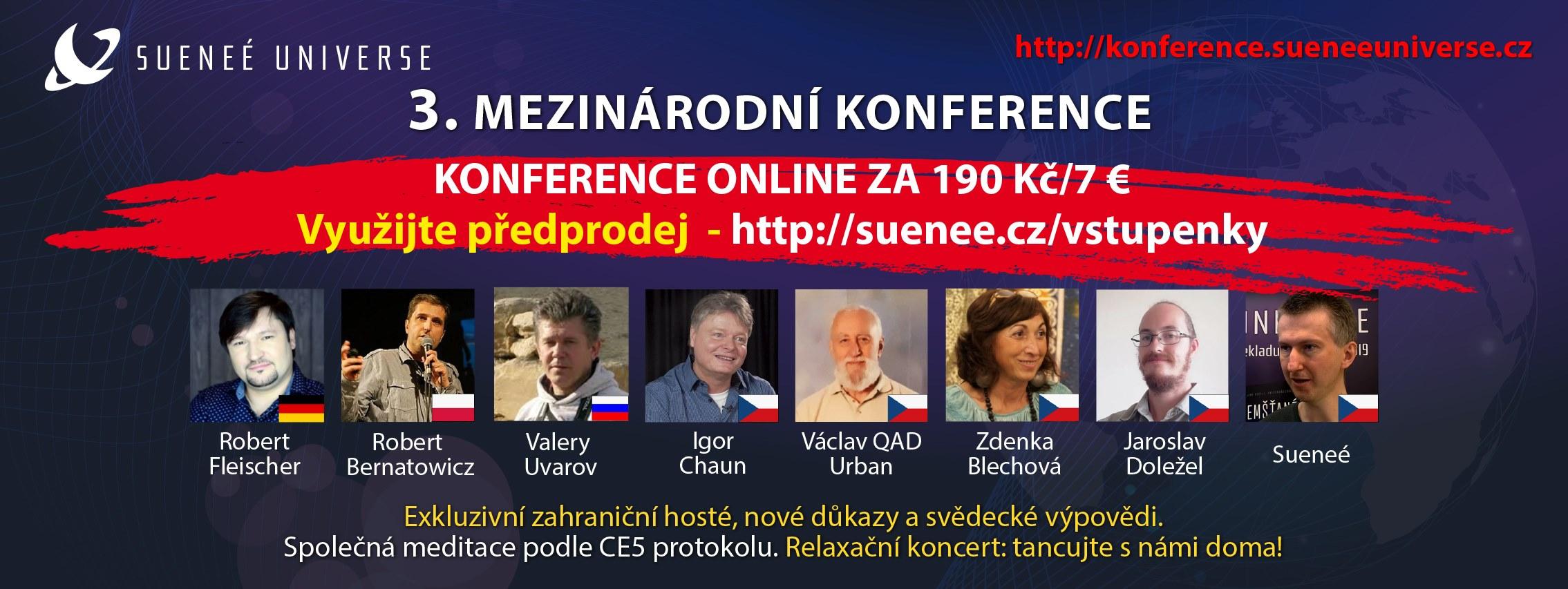 ONLINE 3. mezinárodní konference Sueneé Universe