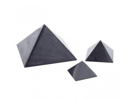 Šungit pyramida leštěná 5x5 cm
